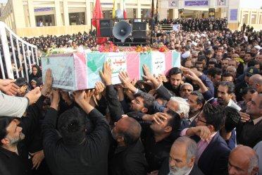 پیکر شهید گمنام در برازجان تشییع و خاکسپاری شد+تصاویر اختصاصی