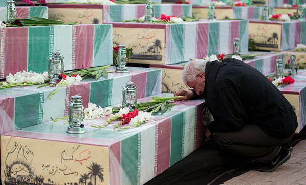 وداع با پیکر ۱۳۵ شهید گمنام دفاع مقدس