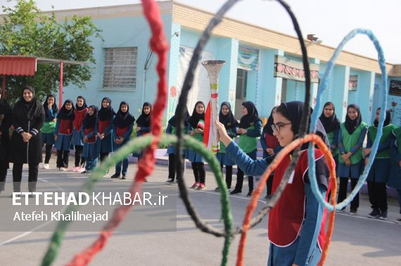 برگزاری مراسم افتتاحیه المپیاد ورزشی درون مدرسهای در دشتستان+ تصاویر