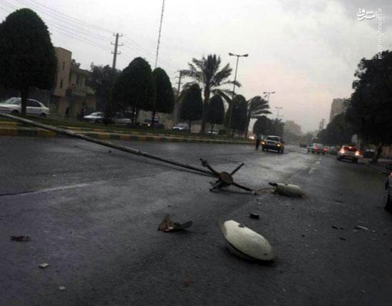خسارات طوفان در بوشهر