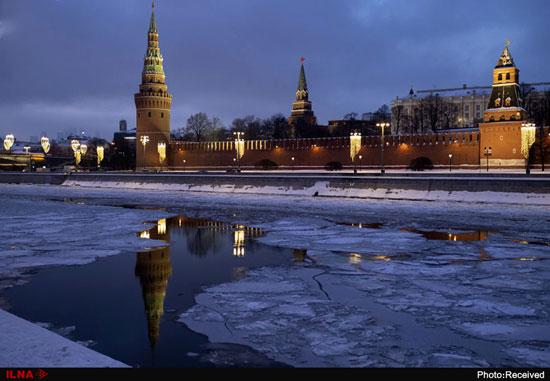 یخ بستن رودخانهی مسکو