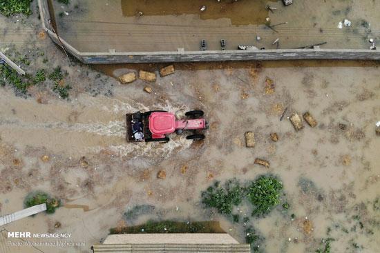 تصاویر هوایی از مناطق سیلزده استان گلستان
