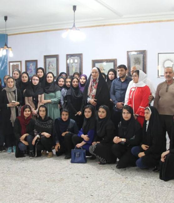 اولین نمایشگاه نگارگری هنرجویان هنرستان کاردانش هنر برازجان افتتاح شد+تصاویر