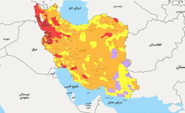 وضعیت کرونایی ۵۰ درصد شهرستانهای استان بوشهر زرد شد